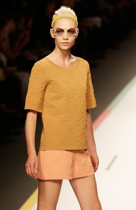 Fendi - shorts color cipria