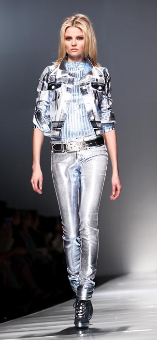 Giacca e jeans argento Blumarine