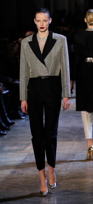 Giacca argento Yves Saint Laurent