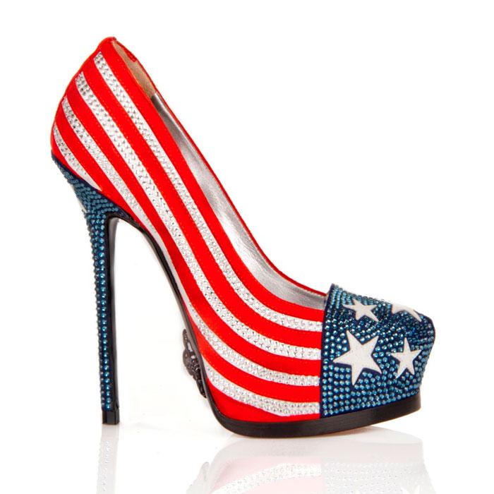 Scarpe tacco alto bandiera USA Philip Plein primavera estate 2013