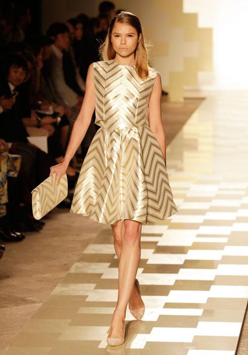 Mila Schon - Completo oro e bianco
