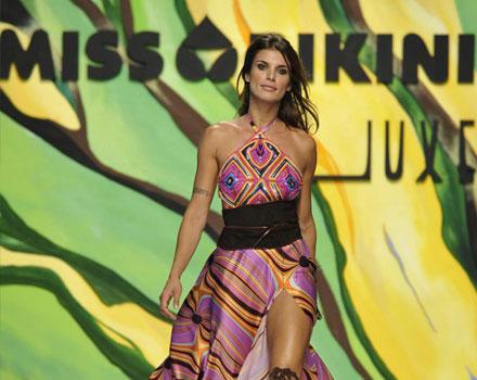 Miss Bikini Luxe - Abito lungo fantasia per Elisabetta Canalis