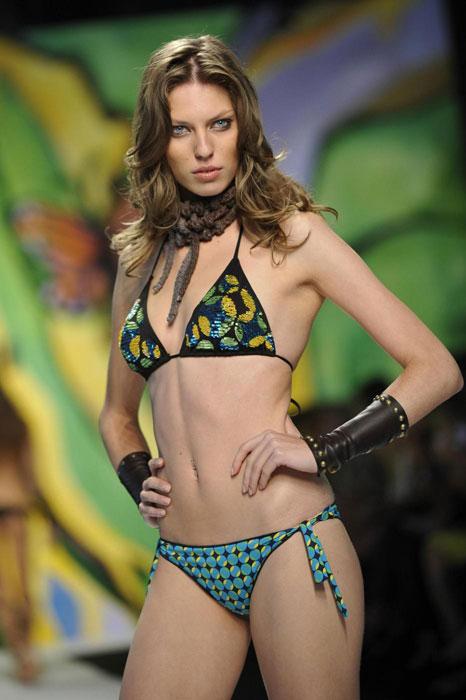 Miss Bikini Luxe - Bikini fantasia verde e nero