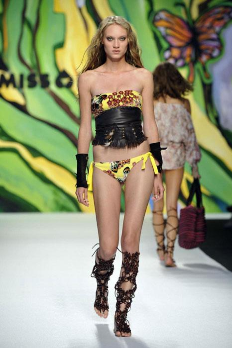 Miss Bikini Luxe - Bikini fantasia in giallo con fascia alla vita