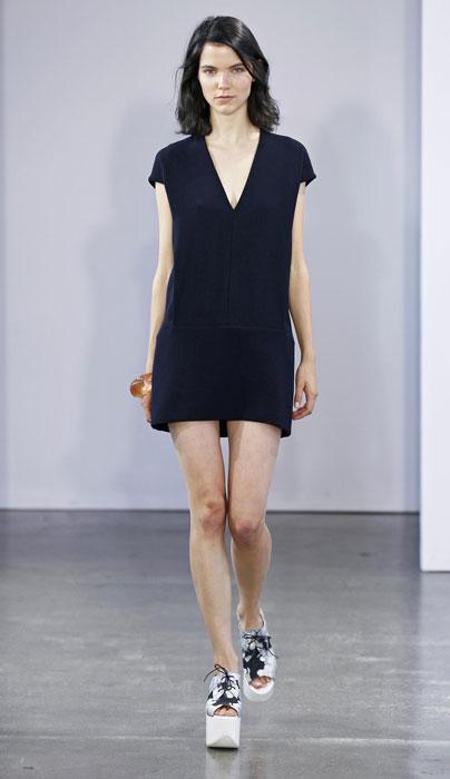 Victoria by Victoria Beckham - abito nero con scollo a v