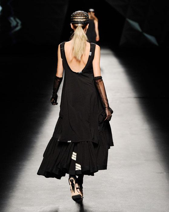 Y-3 - abito lungo nero