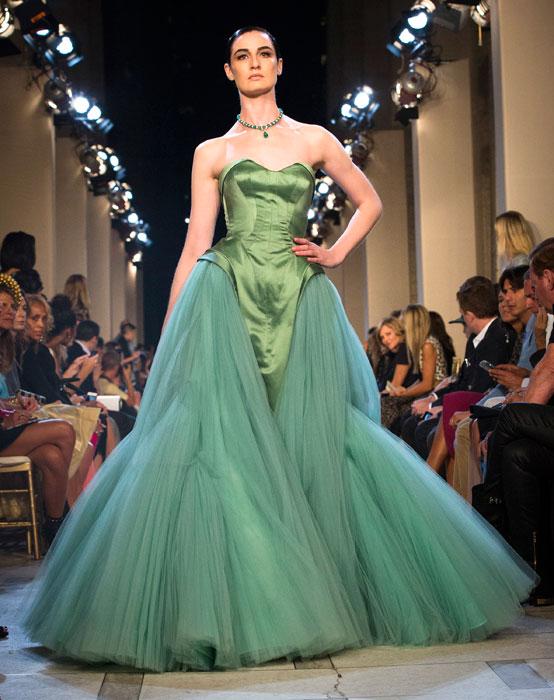 Zac Posen - abito lungo verde