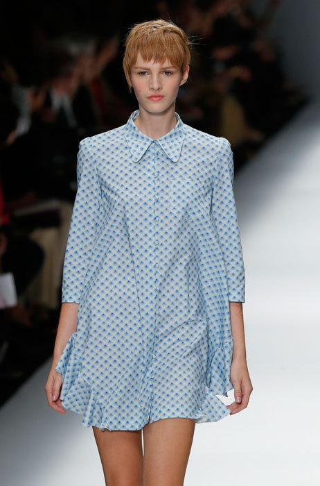 Cacharel - camicia lunga blu a pois