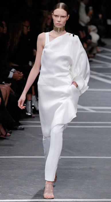 Givenchy -maglia monospalla bianca