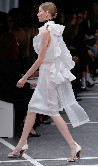 Givenchy - abito bianco trasparente