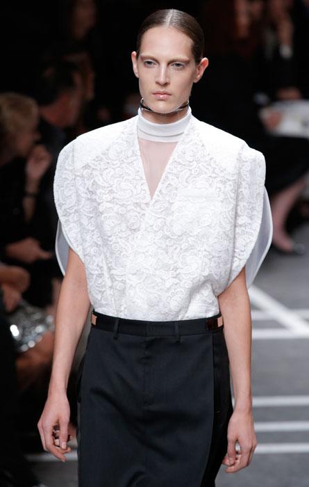 Givenchy - maglia bianca ricamata