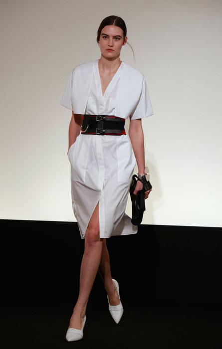 Hermes - abito bianco cinta nera