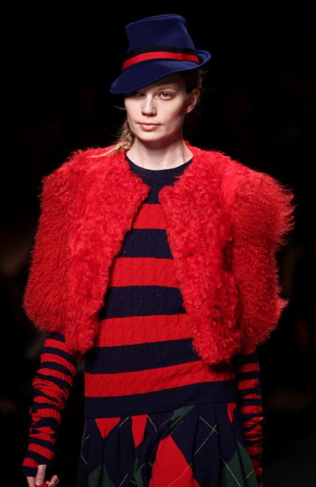 Capospalla pelliccia rossa Blugirl