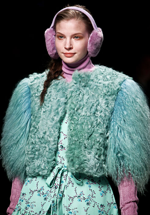Pelliccia azzurra Blugirl