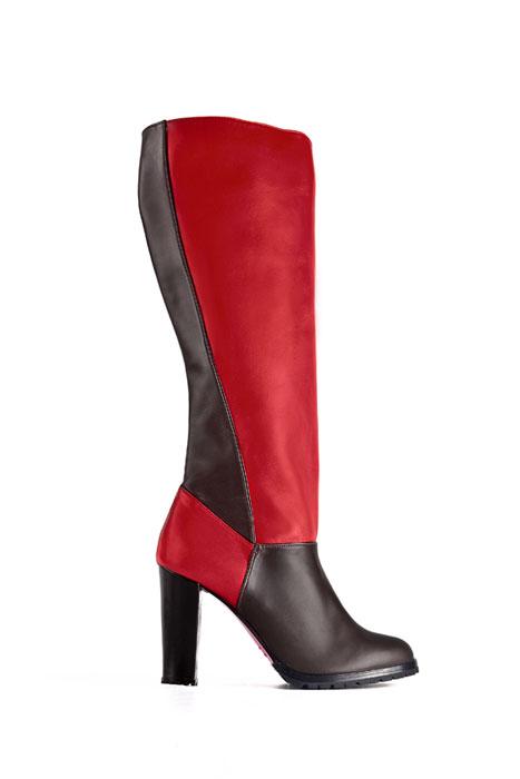 Stivali Rizieri rosso e nero