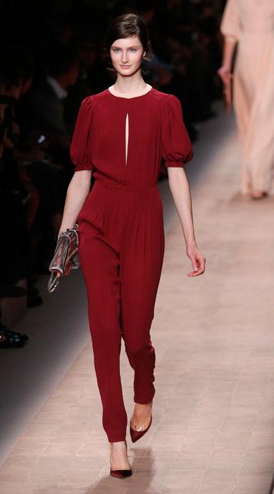 26858588d4ebf Valentino - pantalone rosso scuro