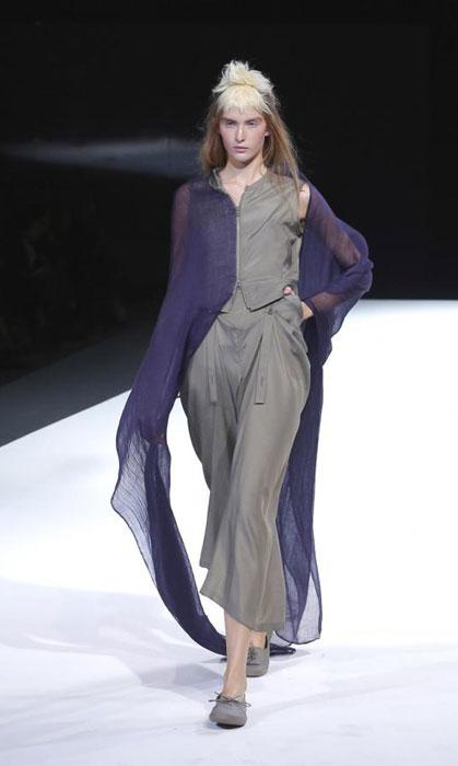 Yohji Yamamoto - Completo viola e grigio