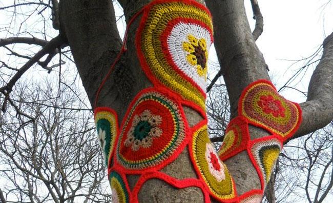 Vestito uncinetto albero