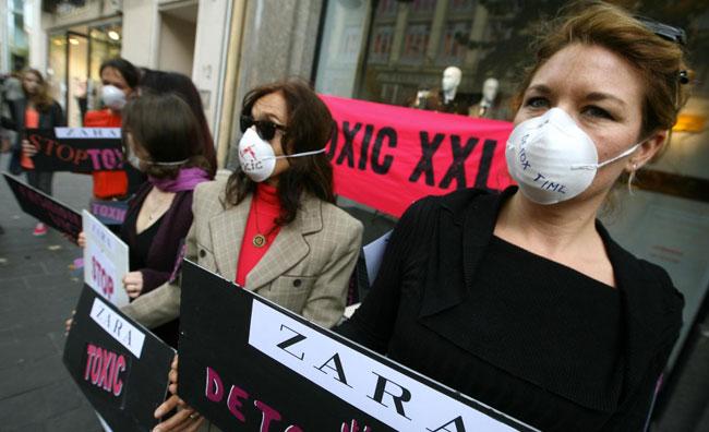Protesta ambientalista Zara