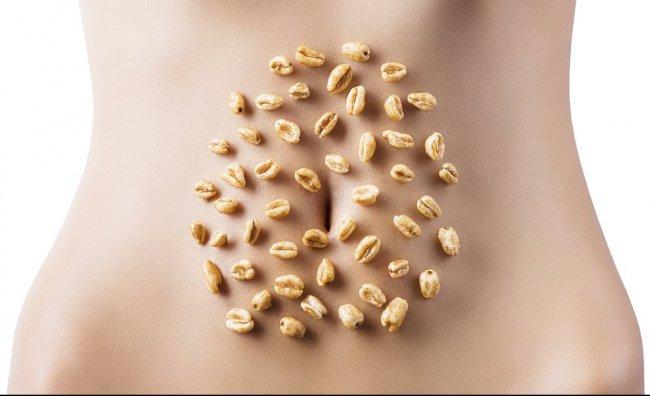 Pancia piatta con i cereali
