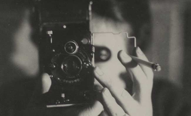 Self-Portrait with Ikarette Germaine Krull, 1925