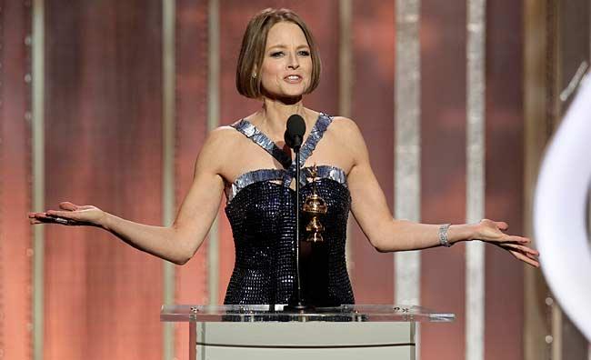 Jodie Foster ai Golden Globes 2013