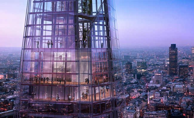 The Shard: la vista su Londra è mozzafiato