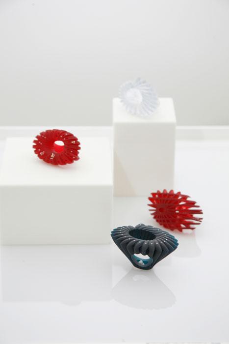 Esposizione anelli Stefania Lucchetta