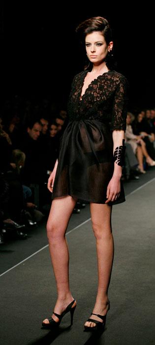 Minidress nero con trasparenze  Nino Lettieri