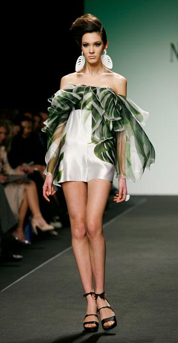 Mini dress con volant  Nino Lettieri