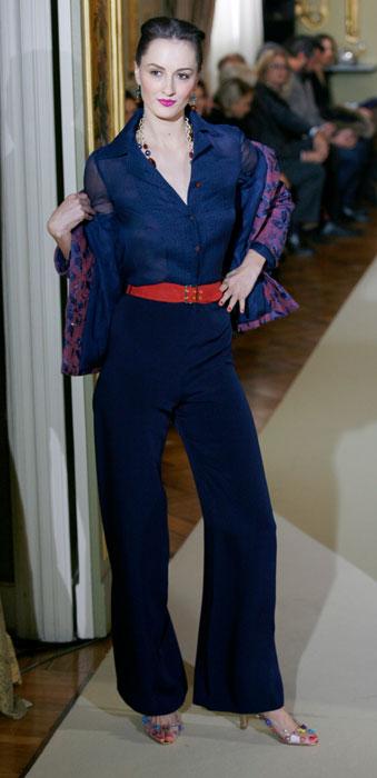 Completo pantaloni a vita alta e giacca Raffaella Curiel
