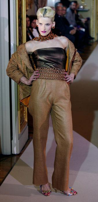 Pantaloni e top senza maniche con cintura in vita Raffaella Curiel