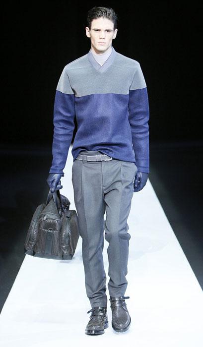 Pullover con borsa a mano Emporio Armani