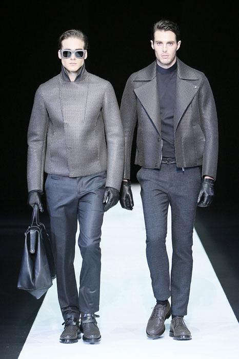 Doppia giacca di pelle Emporio Armani