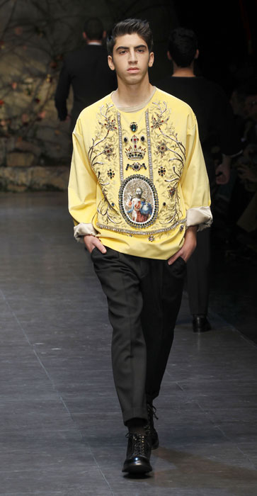 Felpa stampata Dolce e Gabbana