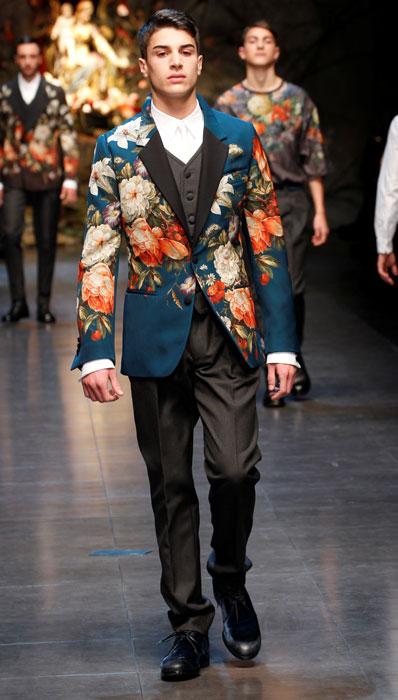 Giacca stampata Dolce e Gabbana