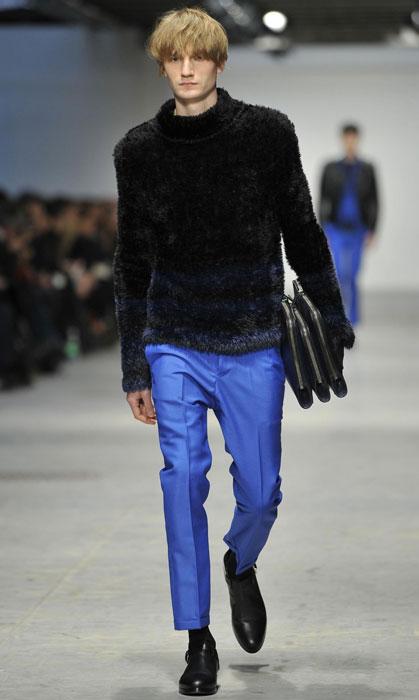Pantaloni blu elettrico Costume National