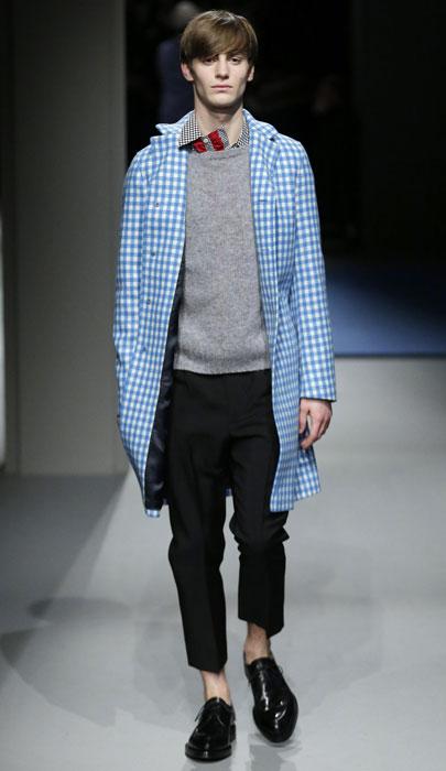 Cappotto stile grembiule Prada
