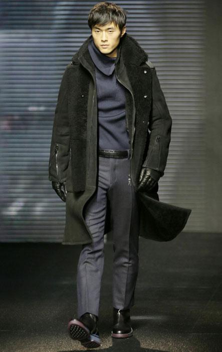 Cappotto con inserti in pelliccia Salvatore Ferragamo