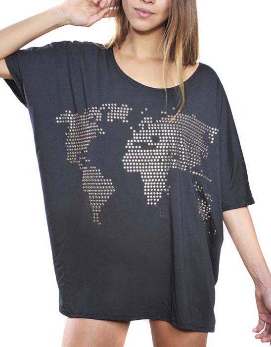 T-shirt con microborchie Blomor