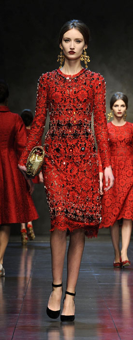 Abito con cristalli Dolce &Gabbana