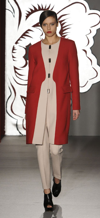 Cappotto e pantaloni Paola Frani