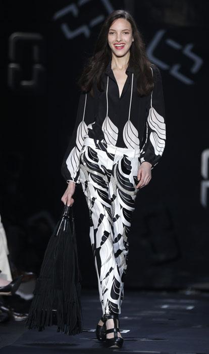 Pantaloni e blusa stampati Diane Von Furstenberg