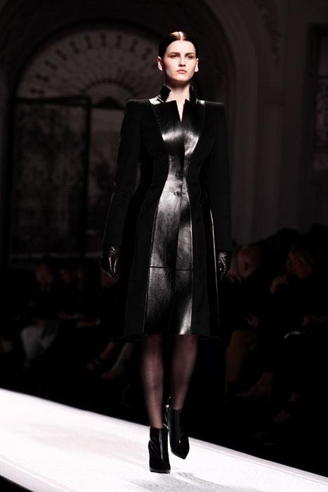 Cappotto in pelle Alberta Ferretti