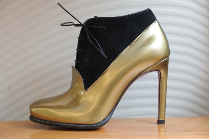 Ankle boot stringato Santoni