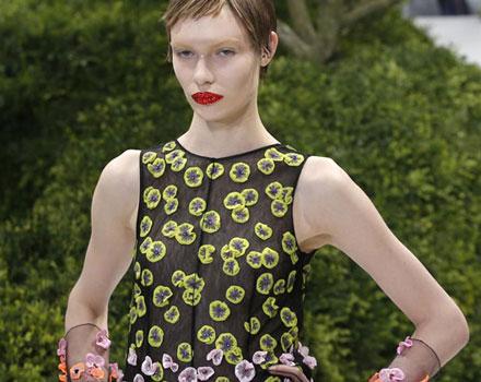Abito con inserti a fiori Dior Haute Couture