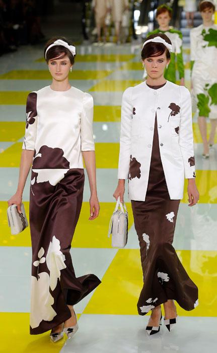 Coppia abiti con fiori Louis Vuitton