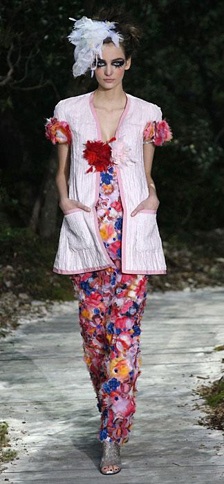 Abito floreale Chanel Haute Couture
