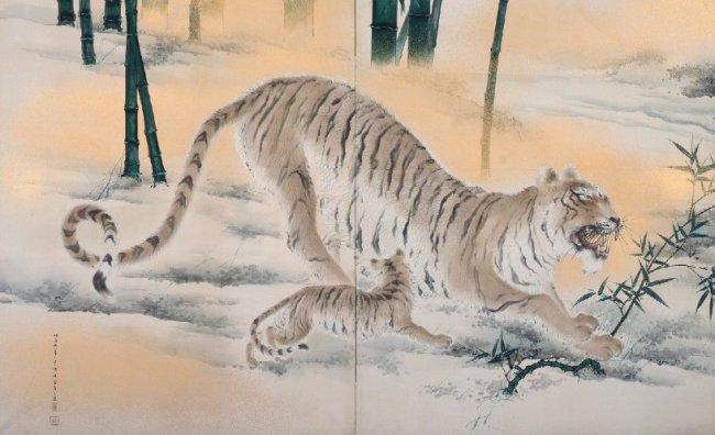 Chikudo Kishi. Tigri (Mo ko zu). 1895. The Museum of Modern Art, Shiga