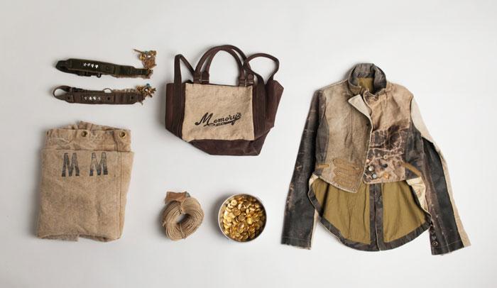 Giacca e accessori in denim Memory's ltd